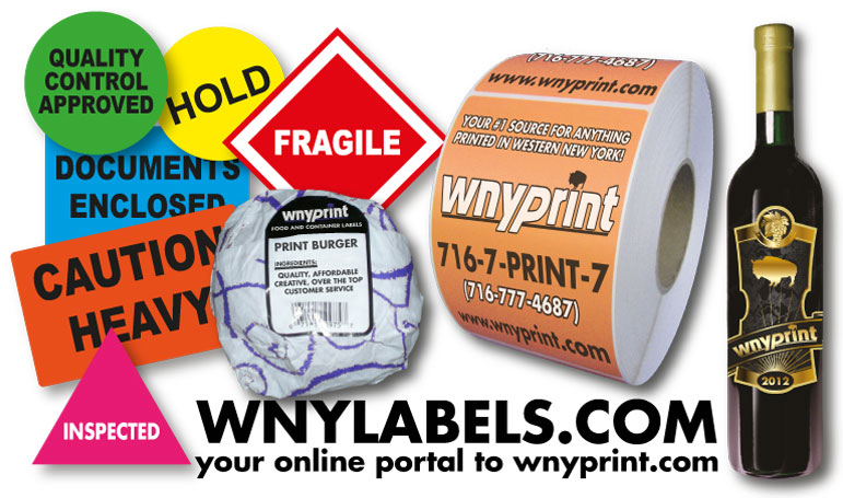 WNYLABELS.com is your online portal to WNY Print.  Buffalo and WNY's #1 Source for Label, Sticker and Decal Printing | Buffalo and Western New York (WNY) Label, Sticker and Decal Printer
